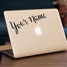 """** su nombre ** Apple MacBook Decal Sticker encaja 11"""" 12"""" 13"""" 15"""" y 17"""" Modelos"""