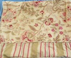 Waverly Imperial Dress Pillow Sham Jacobean Floral Stripe Standard