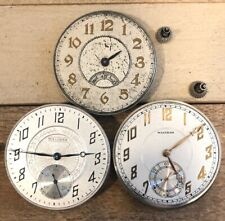 12s Waltham Pocket Watch Movements - Parts And Repairs, Secometer
