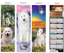 Samoyed 2018 Calendar Bookmark-3 Lot-White Dog American Eskimo Art Card Figurine