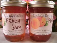 Two Jars Homemade Peach Jam Artisan Gourmet jam Gift for Mom Gift idea for Dad