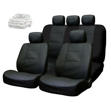 FOR VW NEW PREMIUM BREATHABLE BLACK SYN LEATHER CAR SEAT COVERS SET