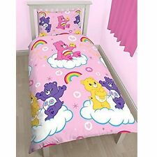 CARE BEARS SHARE SINGLE DUVET COVER SET NEW REVERSIBLE 2 in 1