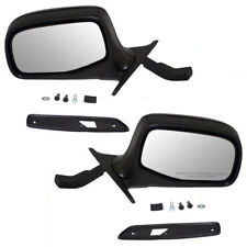 Manual Door Mirror Pair For 1992-1996 Ford F-150 Bronco FO1320125 FO1321125 L+R