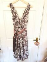 PRINCIPLES Sz 12 Sleeveless Lined Occasion Dress with Sash VGC Special Occasion