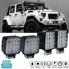 4x 48W LED Work Light spot offroad Lamp Tractor Truck boat ATV  Pickup 4WD