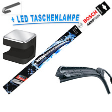 BOSCH AEROTWIN TERGICRISTALLO 600mm/550mm Set AR997S + CUBY TORCIA LED