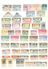[OP1497] America Latin lot of stamps on 12 pages
