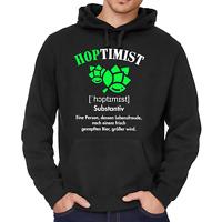 HOPTIMIST Bier JGA Spaß Comedy Sprüche Lustig Fun Sweater Kapuzenpullover Hoodie