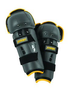 Youth sector gp knee guard charcoal/yellow one size - Thor