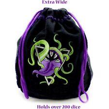 Bag of Devouring Black Dice Bag - Holds more than 200 Dice - RPG D&D Dice Bag