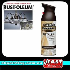 RUSTOLEUM UNIVERSAL ALL PURPOSE METALLIC SPRAY PAINT OIL RUBBED BRONZE