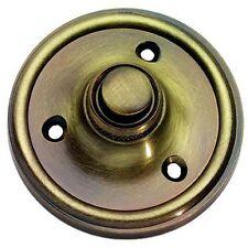 Sólido Latón Antiguo Redondo Estilo victoriano puerta campana Push/Switch (XL39)