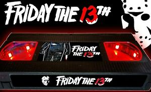 Friday the 13th (1980) - Retro VHS Lamp +Remote Control - 80s Horror Movie