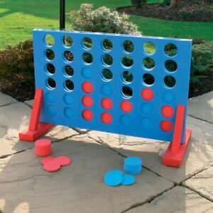 GIANT LARGE CONNECT FOUR 4-IN-A-ROW 42PC TOY GAME GARDEN PATIO BEACH KINGFISHER