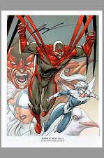 Sdcc Dc New 52 Signed Rob Liefeld Hawk & Dove #1 Comic Art Print