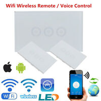 3 Way Wifi Wireless Smart Remote Control Wall Light Touch Switch Glass Panel Hot