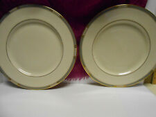 """Set of Two [2] Lenox China Presidential Collection McKinley Dinner Plates 10.5"""""""