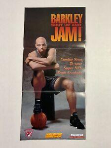 Barkley Shut Up And Jam SNES Nintendo Power Poster