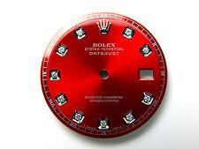 Men's Rolex Datejust S-S Non-Quickset Pie Pan 1601 Red Color with Diamond Dial