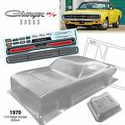 1970 1/10 RC onroad drift Car Dodge Charger muscle 200mm w/Led lamp cup BODY