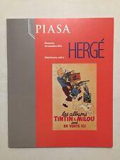 Catalogue Ventes aux enchères Piasa TINTIN & MILOU / HERGE / Novembre 2012 PARIS