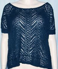 NWT Hollister Point Vicente sweater short sleeve junior oversized top navy XS/S
