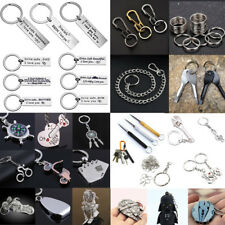 Portable Creative Alloy Metal Keyfob Car Keyring Unisex Keychain Key Chain Ring