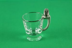 MGM, SHOT GLASS, LAS VEGAS, NEVADA, LION HANDLE IN PEWTER, VERY GOOD CONDITION