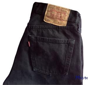 🌺Original Levi's 501® Classic Straight Leg Black Denim Jeans W28 L30🌺