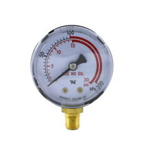 "Low Pressure Gauge for Acetylene Regulator 0-30 psi 2 inches - 1/8"" NPT Thread"