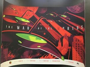 """""""WAR OF THE WORLDS"""" TOM WHALEN LIMITED EDITION SCI-FI SCREEN PRINT $100 OBO!!"""