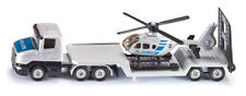 1610 SIKU POLICE LOW LOADER W/HELICOPTER Mini Diecast Model Scale 1:87 3 years+