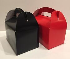 40 PARTY FAVOR TREAT BOX - 20 BLACK  20 RED  BAG BIRTHDAY BRIDAL BABY SHOWER