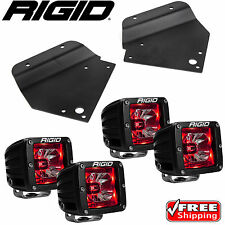 Rigid Radiance LED Fog Light w/ Red Backlight for 10-14 Ford F150 Raptor SVT