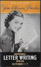 USA Cinderella: 1930s National Letter Writing Week: Priceless Letters - dw328h