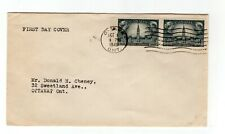 Canada 1948 Responsible Government #275 pair FDC plain addressed machine