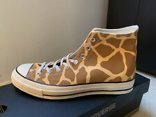 New Converse Chuck CT 70 HI Brown Giraffe Animal Print Men's Sz 10.5 144682C