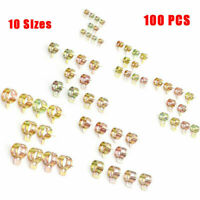 100pcs 6-22mm Strong Spring Clips Oil Vacuum Fuel Line Hose Clamps Assorted Kits