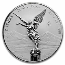 LIBERTAD – MEXICO – 2018 2 OZ REVERSE PROOF SILVER COIN IN CAPSULE