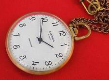 RARE Pocket watch Gold plated Raketa Cardinal Luxury Soviet USSR shockproof