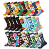 Mens Cotton Socks Warm Funny Fruit Animals Novelty Unisex Casual Socks For Gifts