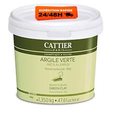 Cattier Argile Verte Prête à l'Emploi Pot 1,350 kg Masque Purifiant Visage Corps