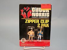 Chuck Norris Karate Kommandos Zipper Clip 2 Pak H.G, Toys Kenner 1986 #2-387