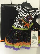 Infant Girls Halloween Outfit Witch Size 12 Months Fashion Pants Free Shipping