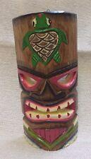 "Hand Carved Wood Tiki Mask Turtle 10"" x 4¾"" 170639"