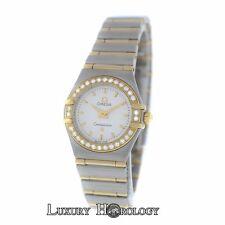 Omega Constellation Diamond Bezel Full Bar 18K Yellow Gold  22MM Quartz Watch