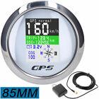 85mm Boat Car Motorcycle Digital Gps Speedometer Odometer Voltmeter Speed Gauge