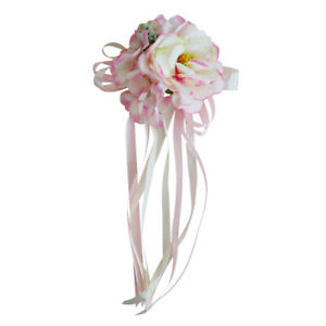 Ribbon Flowers Bouquet Fastener for Cars Wedding Decor