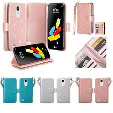 LG K20 V, K20 Plus, K10 2017, LG Grace, Harmony, LG V5 Glitter Wallet Case Cover